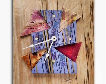 Wood Pieces Thrown Together Clock