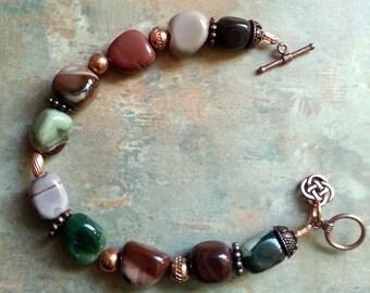 Lovely Imperial Jasper Bracelet/Copper Findings