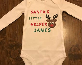 Santas Little Helper-Personalizeable Shirt