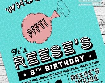 Retro Practical Joke, Gag or April Fool's Birthday Party Invitation