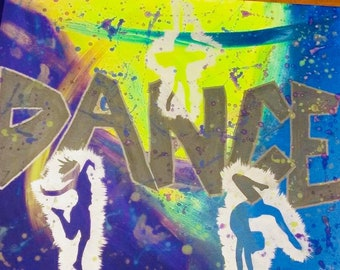 Personalized painting, child, boy, girl, hobby, passion, sports, interests, silhouettes