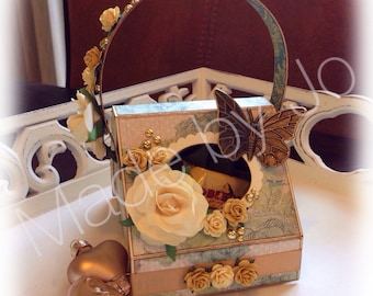 Flower basket. Digital cutting file.
