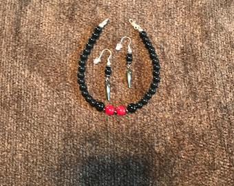 RJ Body Treasure Handmade Bracelet & Earring Set