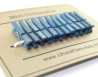 Mini Clothespins - Set of 12 - Rain