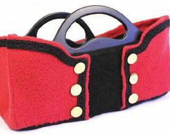 Commander-In-Chief Felted Handbag Pattern, Instant Download