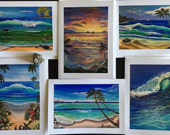 Hawaii acrylic greeting cards