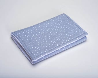 Burp Cloth - Gray with white triangles