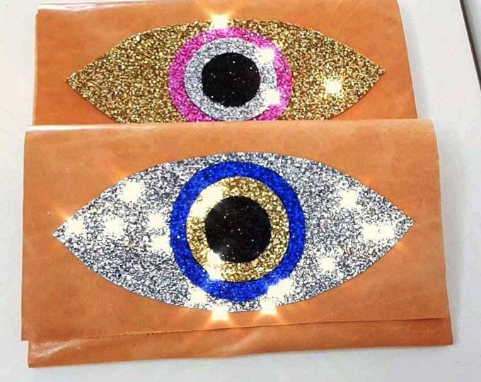 DHL FREE/Greek evil eye /purse leather bag/messanger bag/genuine leather handbag/handmade /cocktail bag/evil eye bag/glitter bag/sparkle bag