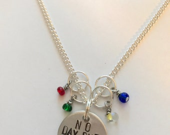 """Rent Inspired Hand-Stamped Necklace - """"No Day But Today"""""""