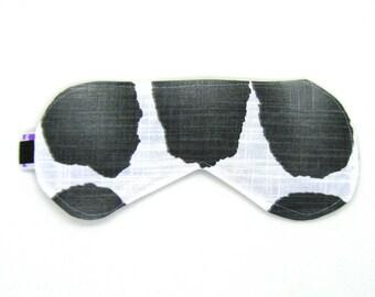 Sleeping Eye Mask / Night Eye Mask / Travel Eye Mask / Sleep Mask - Black Watercolor