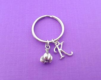 Garlic Keychain - Personalized Keychain - Initial Keychain - Custom Key Chain - Personalized Gift-Gift for Him / Her - Garlic Key Chain