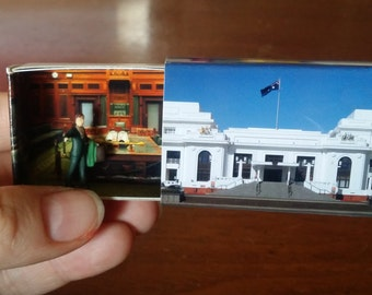 Matchbox Building: Matchbox Miniature of Old Parliament House, Canberra, Australia.