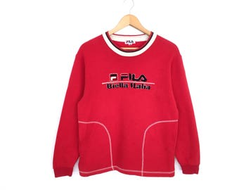 Fila Biella Italia Big Logo Spellout Sweatshirt