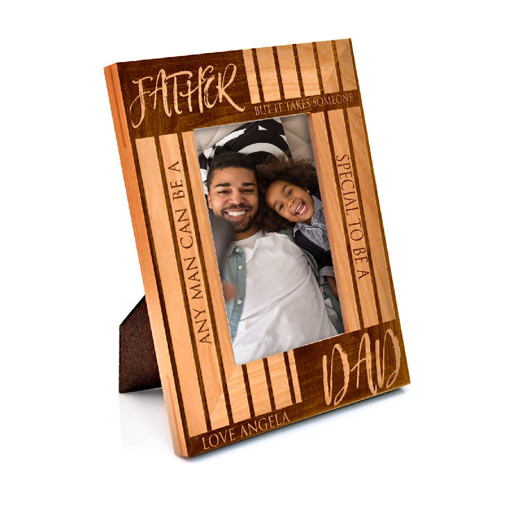Personalized Father\'s Day Gift Wooden Picture Frame Laser Engraved ...