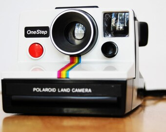 Vintage Polaroid Rainbow One Step Land Camera with Rare Carrying Case