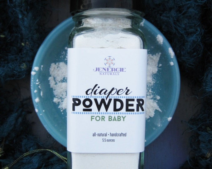 Featured listing image: Diaper Powder /// Organic Ingredients /// Soothing for Diaper Rash, Relief for Babies and New Mothers