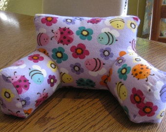 Arm pillow for 18 in. doll, doll flannel arm pillow, 18 in doll furniture arm pillow, Henry St. Dolls arm pillow for doll bed