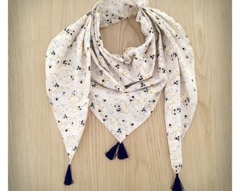 Children scarf / round-neck floral