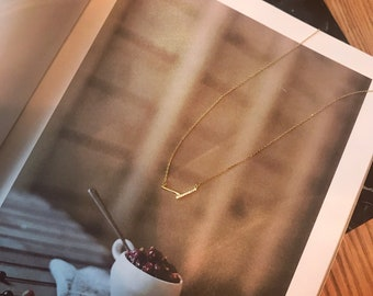 Col_Labo Jewelry : Double bar stone necklace