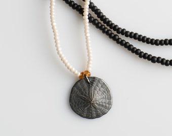 Sand Dollar Color Block Necklace
