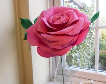 Custom Giant Paper Rose Purple Aqua Paper Flower Bouquet