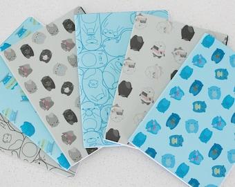 A5 Notebook (Stitch Bind Round Corner)