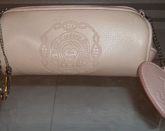 """Juicy Couture Small Bag """"Princess"""" Cosmetic Bag Authentic Pink Leather VERY Chic Multi Purpose Bag Free Shipping Envio Gratis"""