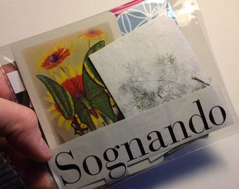 "Ephemera Kit ""Sognando"" (dreaming)  -25 pcs -"