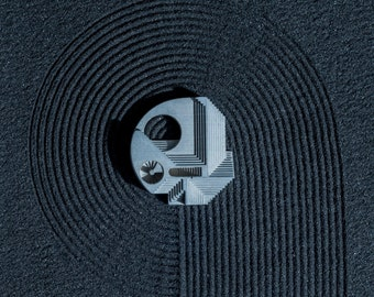 Chimera #5: Micro Concrete Necklace / Brooch