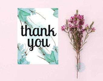 DIGITAL CARD Thank You Cactus Print Cacti Card Wedding Thank You Business Thank You Business Thank You