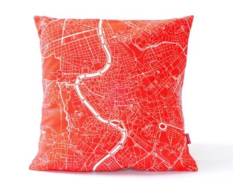 ROME Map Pillow Cover, ROME Cushion, Rome Home Decor, various sizes custom pillow cover, Rome gift, anniversary gift, custom wedding pillow