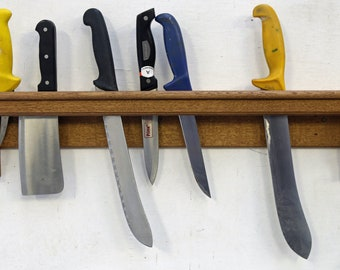 Knife Rack For Life - hand carved antique oak