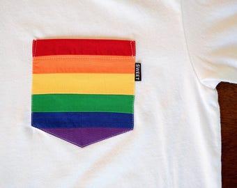 Rainbow Pocket Tee