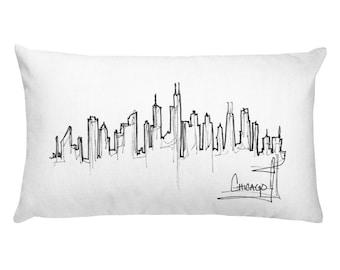 Chicago Skyline Rectangular Pillow