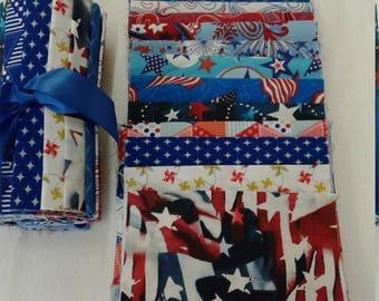 Patriotic six inch sampler set