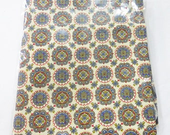 "Fabric cotton flower design 33"" x 31"" for sewing quilting scrapbooking"