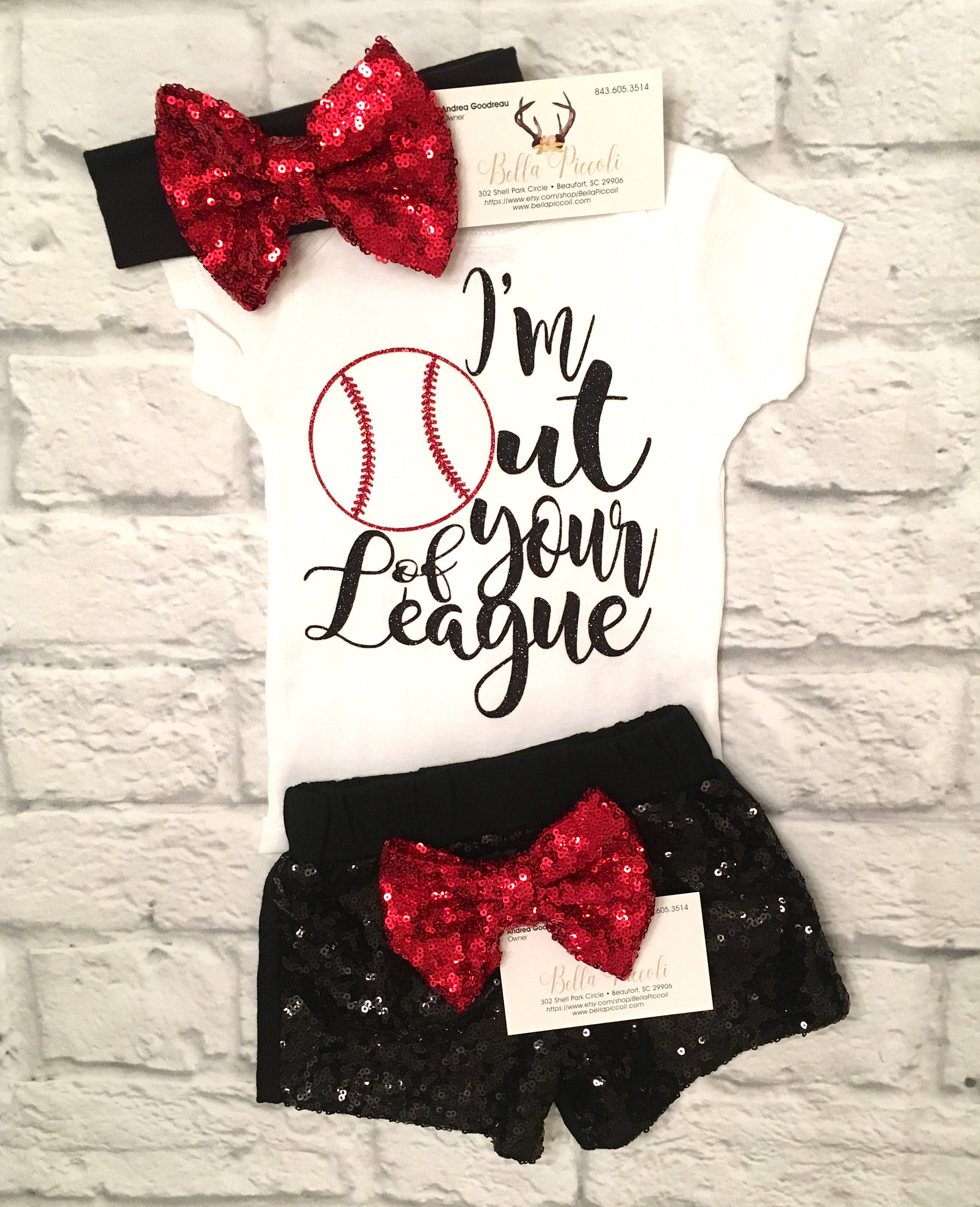 Baby Girls Clothes I m Out Your League Girls Bodysuit
