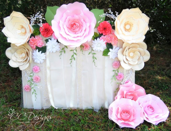 Paper Flower Rose Backdrop DIY Paper Flower Patterns And
