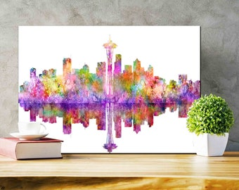 Seattle Skyline Seattle Printable Seattle silhouette Printable skyline