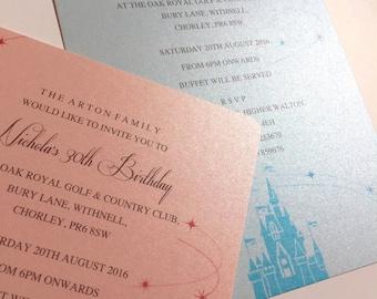 Fairytale   Castle   Princess   Wedding   Party    Children's   Girl's   Invitations