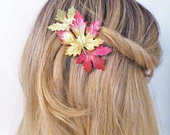 Leaf Hair Barrette, Leaves Hair Clip, French barrette