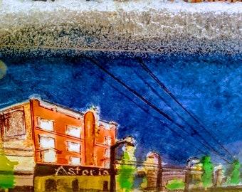 Astoria Hotel (Artists impression 3D Vancouver)  on Acrylic PlexiGlass