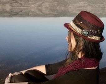 Gypsy magic vegan hat sun & moon with Labradorite