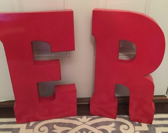 Metal Letters, Wall Decor, Wall Metal Letter, Galvanized Letter, Shelf Letter, Shelf Metal Letter, 20 inch letter - New Item