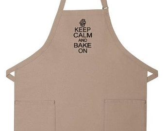 Keep Calm And Bake On Apron - Mothers Day Gift