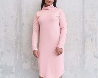 Funnel Neck Sweater Dress
