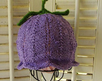 Violet Flower Fairy Hat Choose Size or NB-5M READY to SHIP