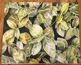 Leaves. Print of Original Painting. Leaf Painting, Watercolor, Nature, Print, Acrylic, Wall Art.