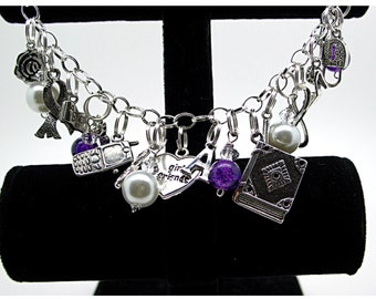 Pretty Little Pearl Edition  Charm Bracelet by UberJewelryDesigns