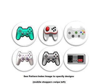 Gamer Drawer Pulls - Man Cave Knobs, x-Box, Nintendo, PS3, Remote Control, Video Game, Teen, Boys Room, Rec Room, Cabinet, Dresser - 115L13